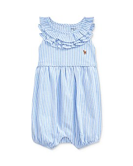 Ralph Lauren - Girls' Striped Bubble One-Piece Shortall - Baby