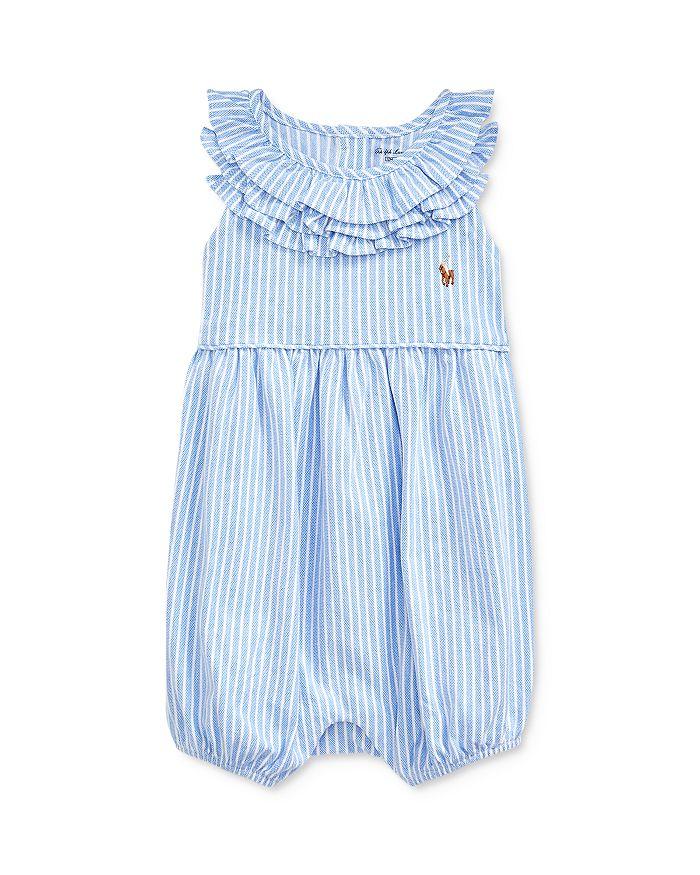 Ralph Lauren - Girls' Striped Bubble One-Piece Shortall - Baby
