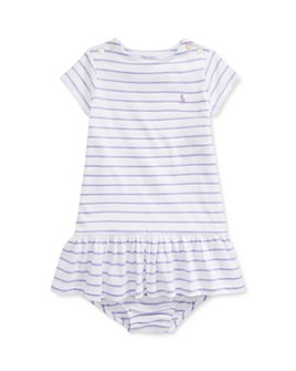 Ralph Lauren - Girls' Jersey Striped Dress & Bloomers Set - Baby