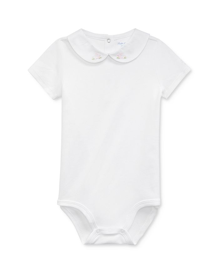 Ralph Lauren - Girls' Embroidered Bunny One-Piece Bodysuit - Baby