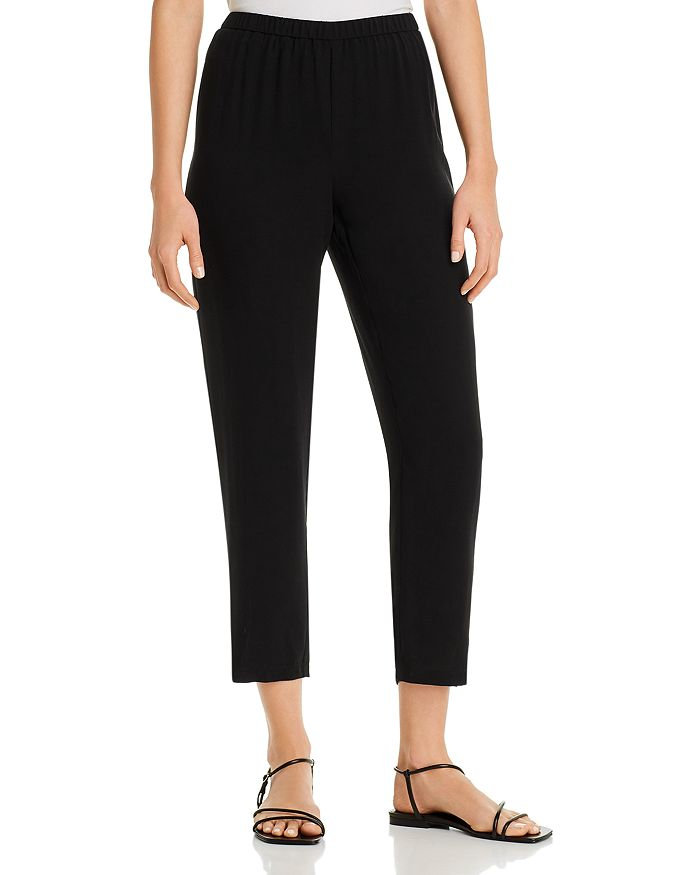 Eileen Fisher Petites - Silk Tapered Ankle Pants