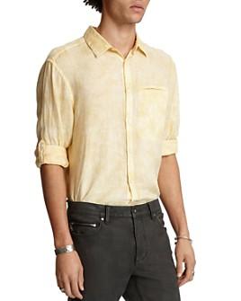 John Varvatos Collection - Linen Garment-Dyed Slim Fit Shirt