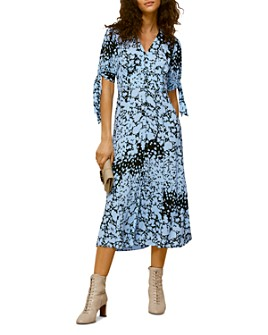 Whistles - Printed Tied-Cuff Dress