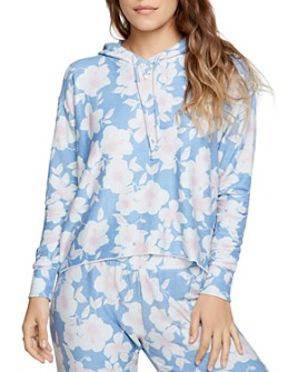 CHASER - Cropped Floral Print Hoodie