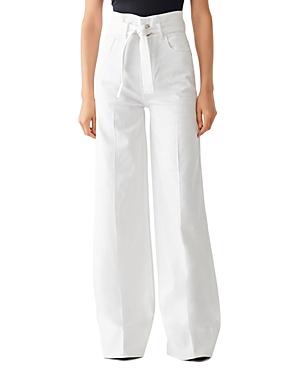 DL1961 Hepburn Wide-Leg Paperbag Jeans in Parowan-Women