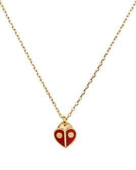 "kate spade new york - Animal Party Ladybug Mini Pendant Necklace, 16""-19"""