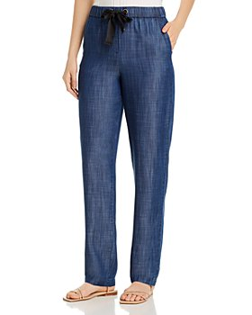 Armani - Relaxed Wide-Leg Denim Pants