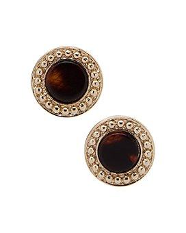 Ralph Lauren - Gold-Tone Synthetic Tortoise Inlay Stud Earrings