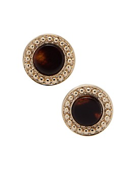 Ralph Lauren - Gold-Tone Synthetic Tortoise Inlay Stud Earrings