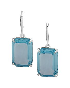 Ralph Lauren - Silver-Tone Stone Square Drop Earrings
