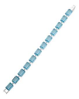 Ralph Lauren - Silver-Tone Stone Square Flex Bracelet