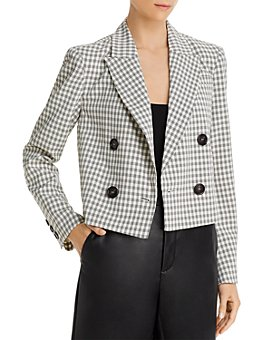 Lucy Paris - Cropped Plaid Blazer