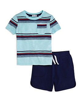 Splendid - Boys' Bright Stripe Pocket Tee & Shorts Set - Little Kid