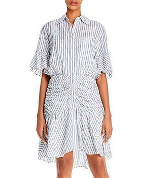 Cinq à Sept - Asher Striped High/Low Mini Dress