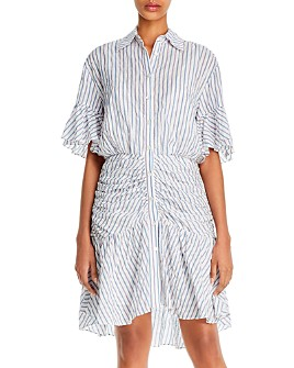 Cinq à Sept - Asher Striped High/Low Mini Dress