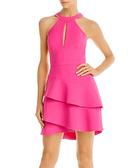 BCBGMAXAZRIA - Tiered Crepe Cocktail Dress