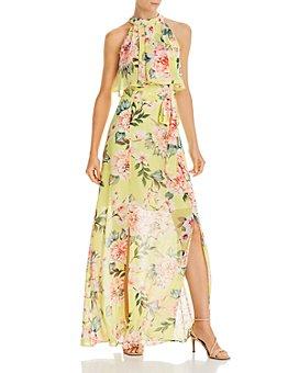 Eliza J - Printed Popover Maxi Dress