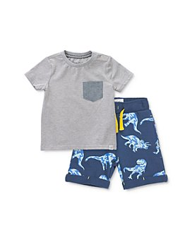 Sovereign Code - Boys' Kershaw Pocket Tee & Adriel Dino-Print Knit Shorts Set - Baby