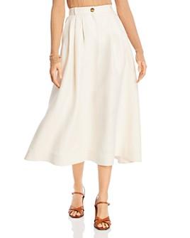 Lafayette 148 New York - Rosabella Linen Midi Skirt