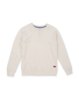 7 For All Mankind - Boys' Cotton Long-Sleeve Henley Tee - Big Kid
