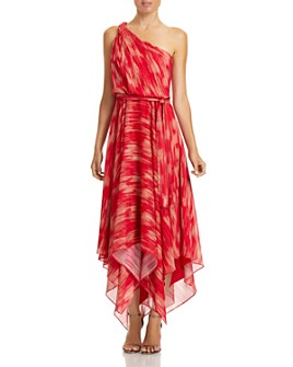 HALSTON - Braided One-Shoulder Gown