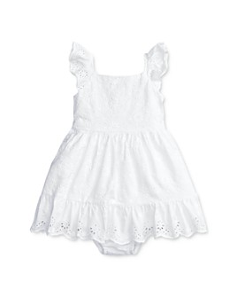 Ralph Lauren - Girls' Cotton Eyelet Fit-and-Flare Dress & Bloomers Set - Baby