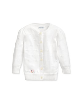 Ralph Lauren - Girls' Cotton Hearts Cardigan - Baby