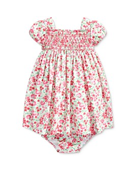 Ralph Lauren - Girls' Smocked Floral-Print Empire-Waist Dress & Bloomers Set - Baby