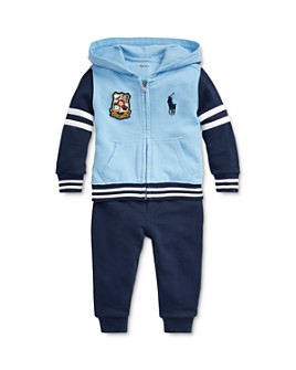 Ralph Lauren - Boys' Cotton French Terry Color-Blocked Hoodie & Joggers Set - Baby