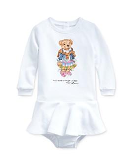 Ralph Lauren - Girls' Cotton-Blend Madras Polo Bear Dress & Bloomers Set - Baby