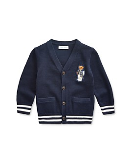 Ralph Lauren - Boys' Collegiate Bear Cardigan - Baby