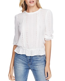 1.STATE - Lace-Inset Blouse