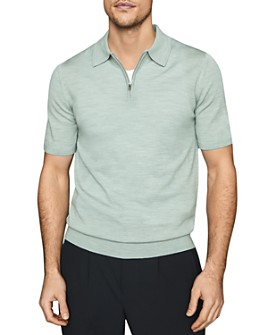 REISS - Maxwell Merino Half-Zip Polo Shirt