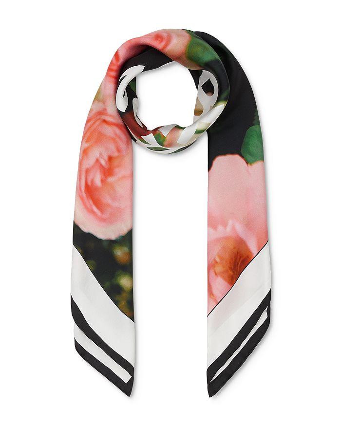 Burberry - Rose & Logo Silk Twill Scarf