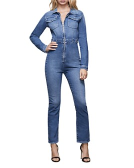 Good American - Zippered Denim Jumpsuit