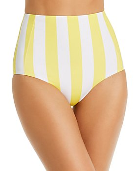 Verdelimon - Banes Striped High-Waist Bikini Bottom