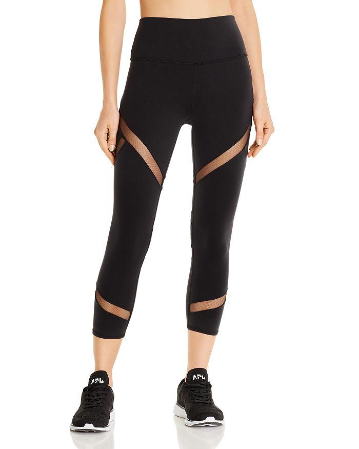 Alo Yoga - Mesmerize Mesh-Inset Capri Leggings