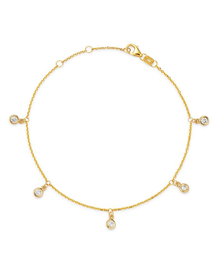 Bloomingdale's - Diamond Droplet Station Bracelet in 14k Yellow Gold, 0.25 ct. t.w. - 100% Exclusive