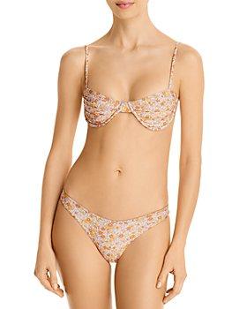 Palm Swimwear - Harper Printed Underwire Bikini Top & Anais Printed Bikini Bottom