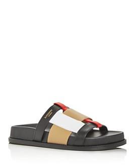 Burberry - Women's Ellendale Woven Slide Sandals