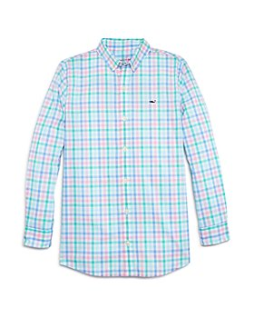 Vineyard Vines - Boys' Palm Beach Cotton Plaid Whale Shirt - Little Kid, Big Kid