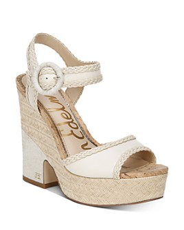 Sam Edelman - Women's Lillie Espadrille Wedge Platform Sandals
