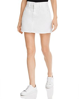7 For All Mankind - Cotton Denim Mini Skirt in Prince St