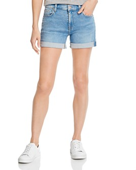 7 For All Mankind - Cuffed Denim Shorts in Melrose