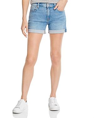 7 For All Mankind Cuffed Denim Shorts in Melrose