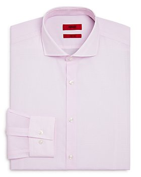 HUGO - Kason Micro-Print Slim Fit Dress Shirt