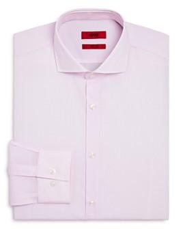 HUGO - Kason Micro-Print Slim Fit Dress Shirt
