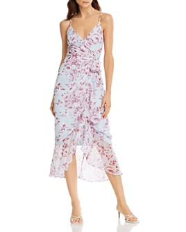 Bardot - Floral-Printed Faux-Wrap Dress