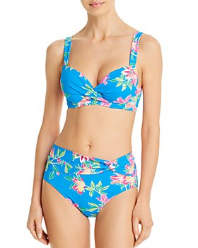 Tommy Bahama - Printed Twist-Front Bikini Top & Printed High-Waist Bikini Bottom