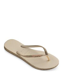 havaianas - Women's Slim Sparkle Thong Sandals